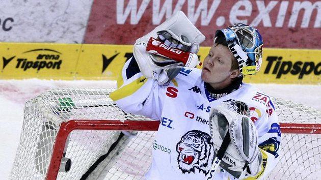 Liberecký brankář Marek Pinc