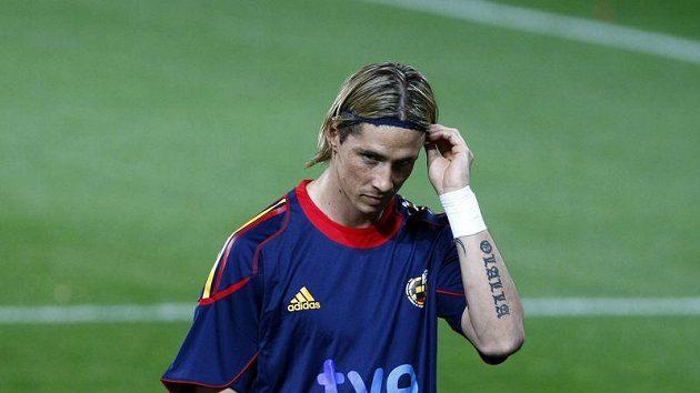 Španělský fotbalista Fernando Torres na tréninku