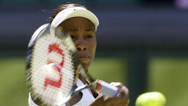 Venus Williamsová během prvního kola Wimbledonu