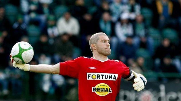 Brankář vršovických Bohemians inkasoval od teplického favorita jediný gól.