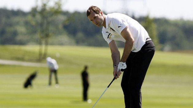 Petr Čech na golfovém hřišti