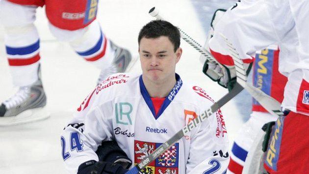 Jiří Hudler v dresu národního týmu.