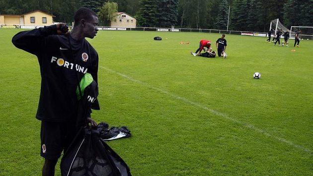 Enoch Kofi Adu na soustředění fotbalistů Sparty