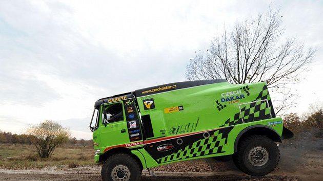 Speciál Tatra Czech Dakar Teamu při testech v Senici.