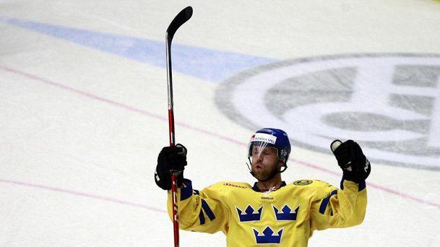 Švéd Nordgren se raduje z branky.