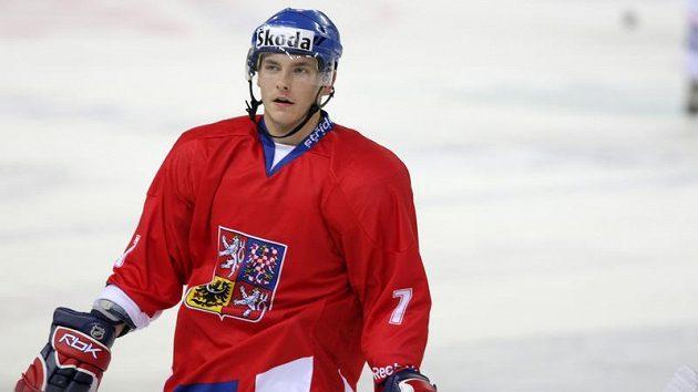 Obránce hokejové dvacítky Michal Kempný