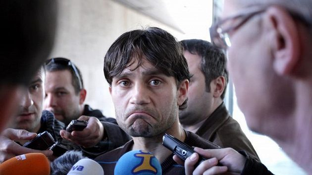 Hráč Bohemians Roman Dobeš po slyšení před disciplinární komisí, která se snažila vyřešit údajnou korupci ze strany Sigmy Olomouc.