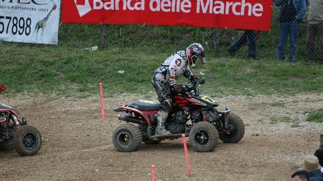 Celkoový vítěz závodu ME v italském Cigoli, domácí jezdec Nikola Moltabini.