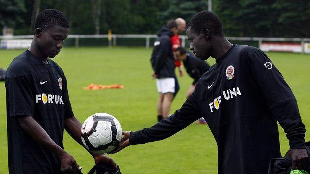 Enoch Kofi Adu a Abeika Quansah na soustředění fotbalistů Sparty