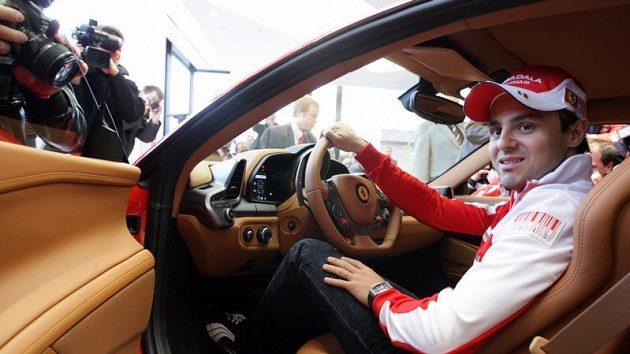 Felipe Massa za volantem Ferrari