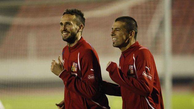 Tomáš Sivok a Milan Baroš.