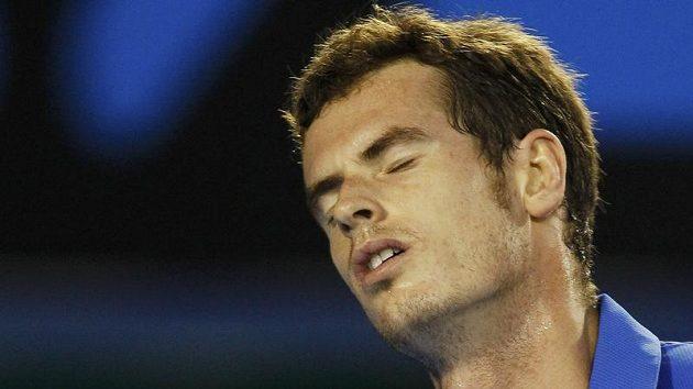 Zklamaný Andy Murray