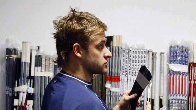 Jan Marek na srazu hokejové reprezentace