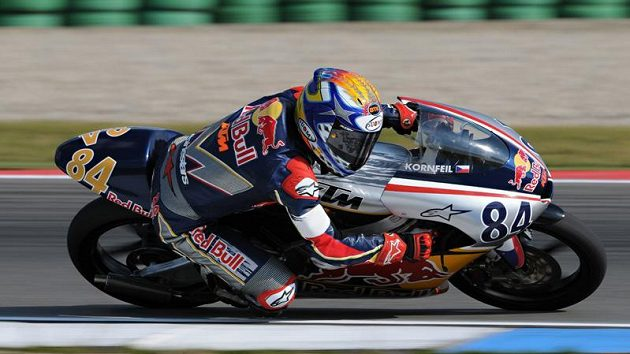 Jakub Kornfeil při loňském Red Bull MotoGP Rookies Cupu.