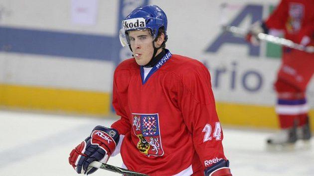 Útočník hokejové dvacítky Michal Poletín