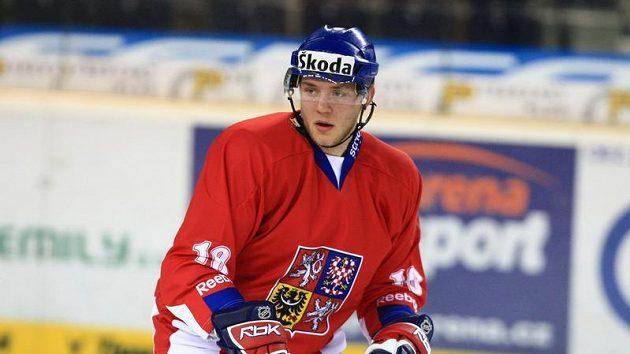 Obránce hokejové dvacítky Dominik Boháč