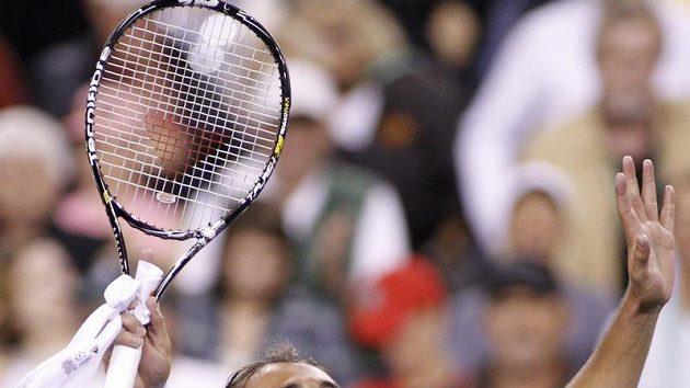 Radost Marcose Baghdatise po vítězství nad Rogerem Federerem.