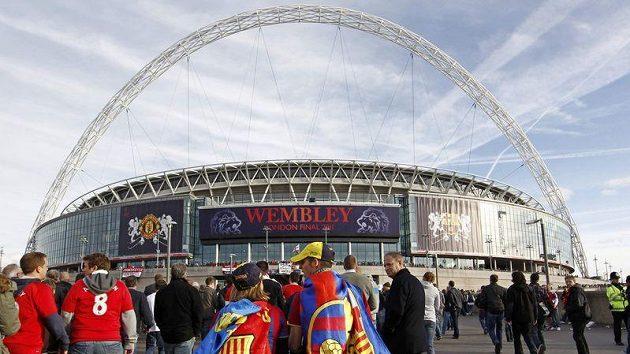 Dějiště finále Ligy mistrů, stadión Wembley v Londýně.