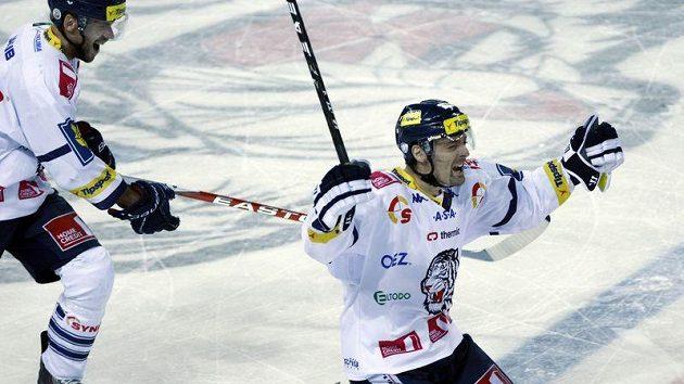 Jaroslav Kudrna se raduje z gólu do sítě Slavie, jeho Liberec ale nakonec ve čtvrtfinále skončil.