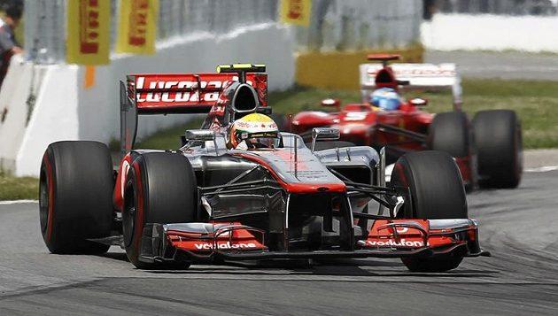 Pilot mclarenu Lewis Hamilton při Velké ceně Kanady
