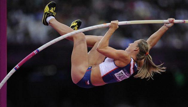 Jiřina Ptáčníková během olympijského finále v Londýně