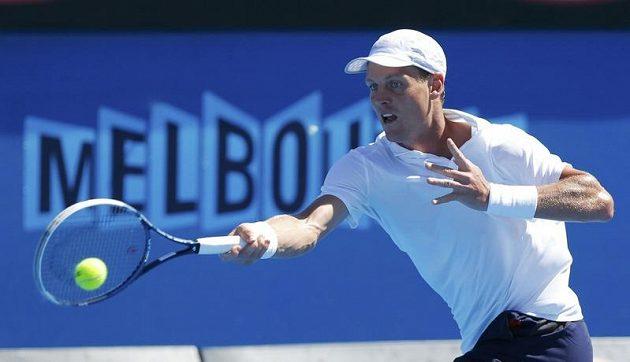 Český tenista Tomáš Berdych porazil na Australian Open Američana Michaela Russella.