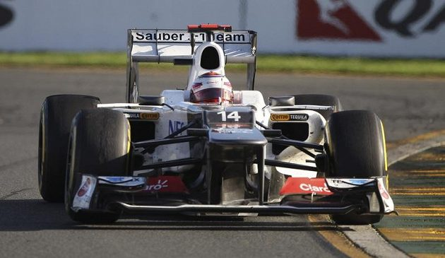 Kamuji Kobajaši, pilot stáje Sauber během GP Austrálie.