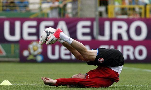Jaroslav Plašil na tréninku české reprezentace po debaklu s Ruskem