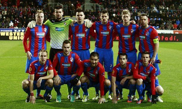 Základní sestava Plzně v utkání Evropské ligy proti Hapoelu Tel Aviv.