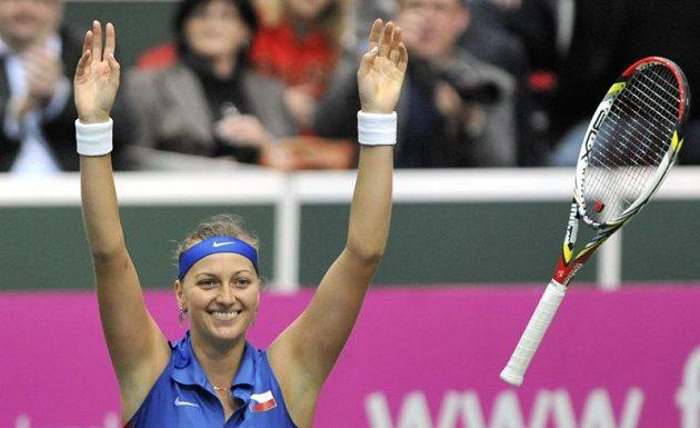 Rozhodnuto, Petra Kvitová vyhrála a Češky budou hrát opět finále Fed Cupu.