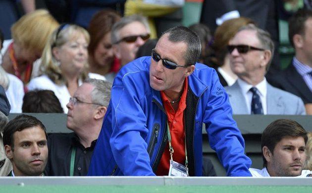 Ivan Lendl, trenér Andyho Murrayho, při finálovém zápasu ve Wimbledonu