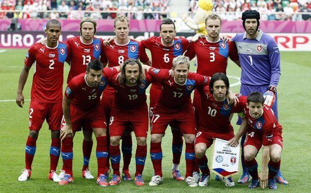 Český tým před zápasem proti Řecku