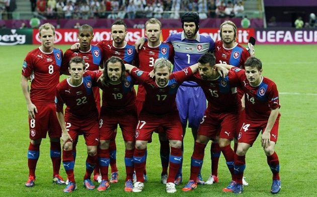 Český národní tým před čtvtfinálovým utkáním ME 2012 s Portugalskem