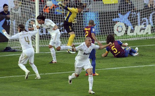Radost hráčů Realu po úvodní brance.