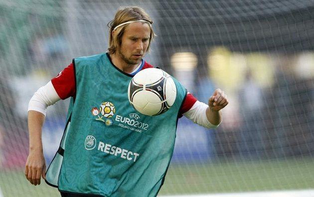 Jaroslav Plašil na tréninku fotbalové reprezentace