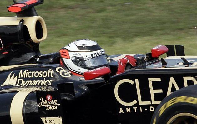 Fin Kimi Räikkönen ze stáje Lotus dojel na Hungaroringu na druhé pozici