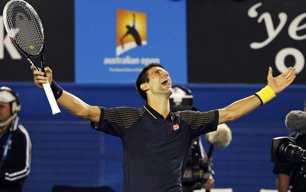 Takto se raduje současný tenisový král.
