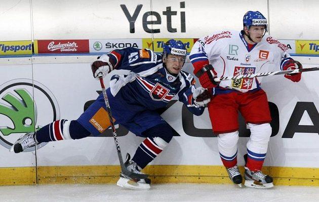 Jiří Tlustý (vpravo) a Slovák Surový