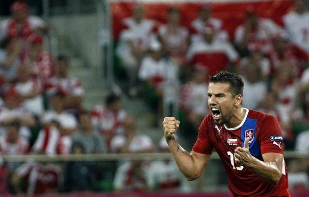Radující se Milan Baroš.