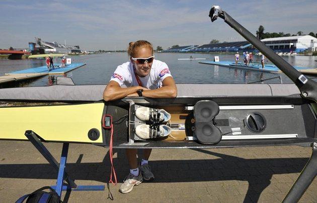 Skifařka Miroslava Knapková v dějišti olympijských her v Londýně