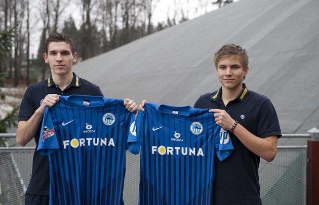 Nové posily libereckých fotbalistů David Pavelka (vlevo) a Martin Frýdek.