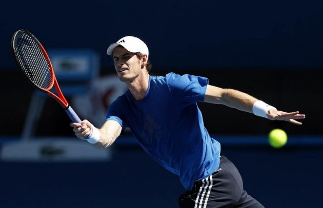 Tenista Andy Murray se v Melbourne připravuje na Australian Open.