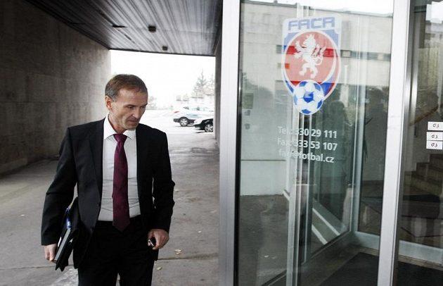 Jablonecký Petr Flodrman před jednáním disciplinární komise FAČR.