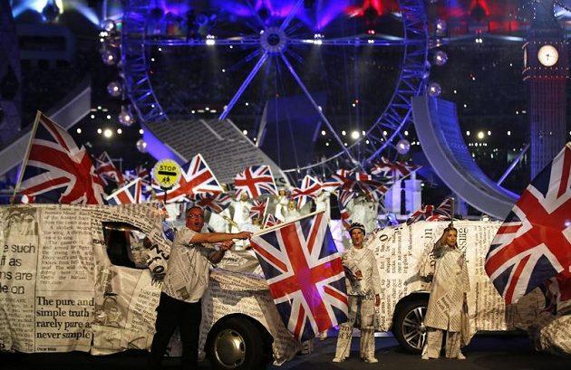 Slavnostní zakončení her v Londýně.