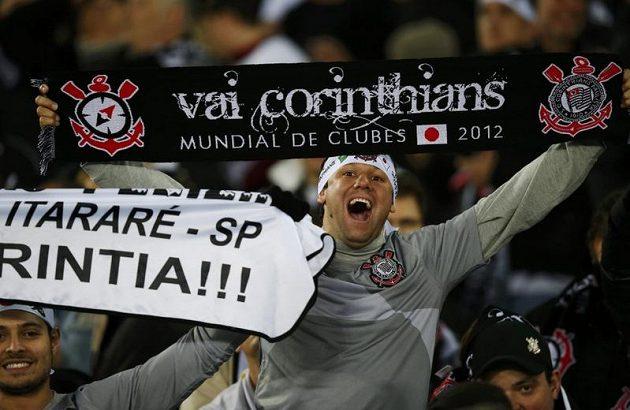 Fanoušek brazilského klubu Corinthians během finále klubového mistrovství světa