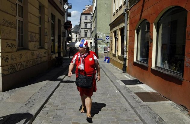 České barvy jsou ve Vratislavi vidět