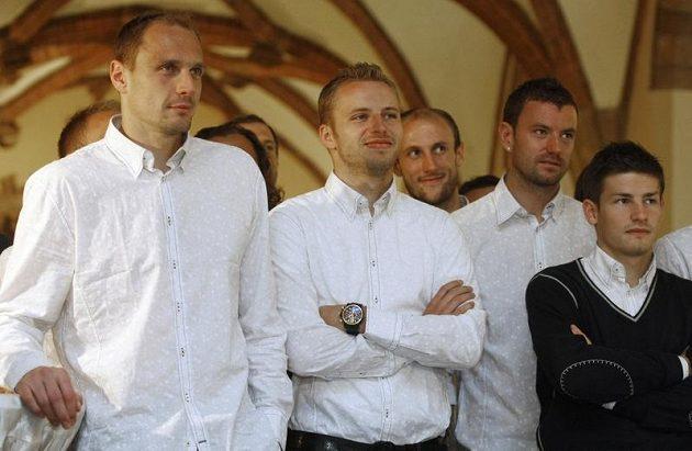 Čeští reprezentanti na radnici ve Vratislavi