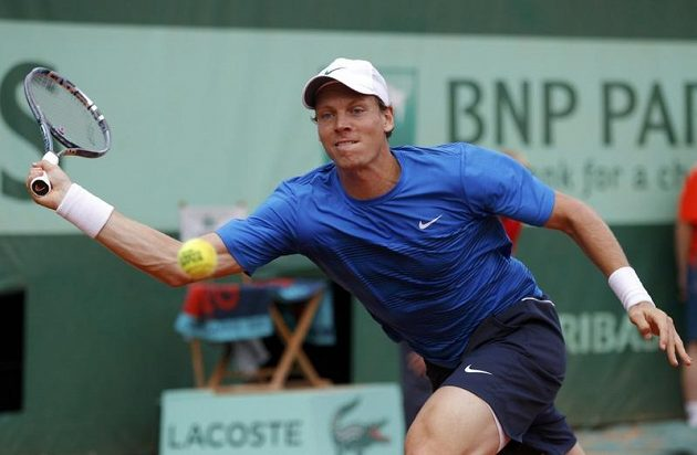 Tomáš Berdych v duelu 3. kola Roland Garros proti Jihoafričanovi Kevinu Andersonovi