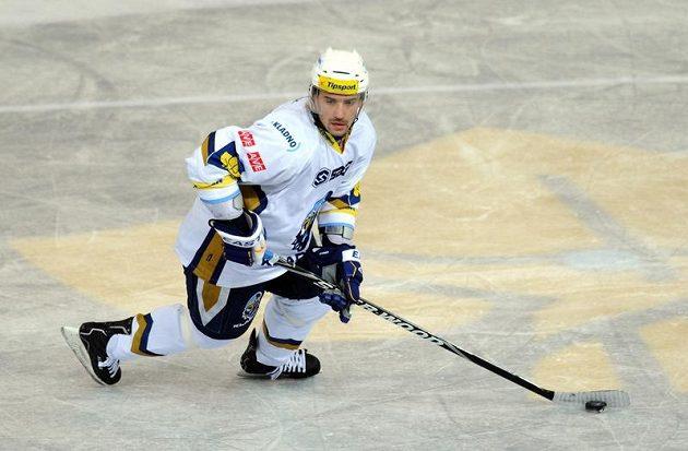 Tomáš Plekanec v dresu Kladna při utkání na ledě pražské Sparty.