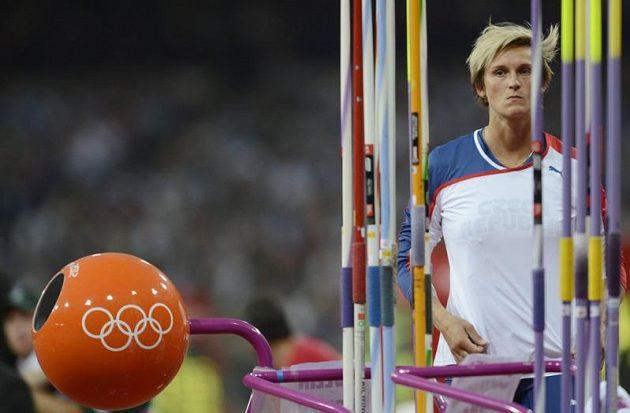 Barbora Špotáková v olympijském finále oštěpařek